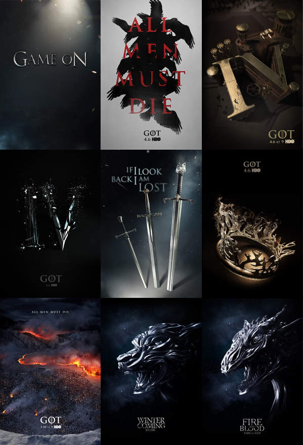 carteles de game of thrones