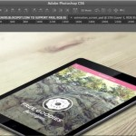 Mockup animado de scroll en iPad hecha en Photoshop gratis