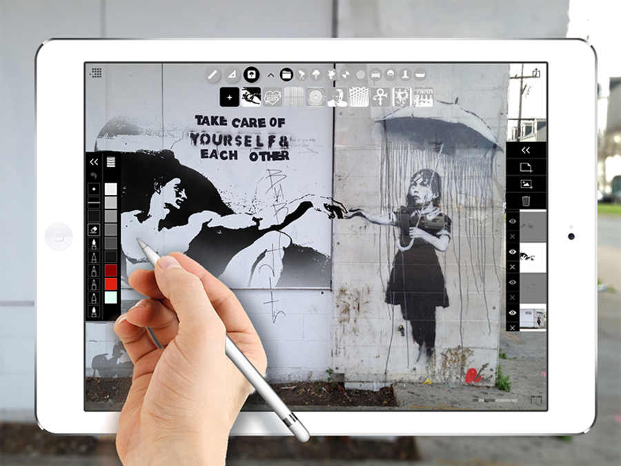 stencil digitales en iPad