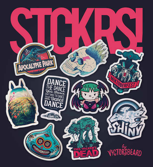 stikers vectores