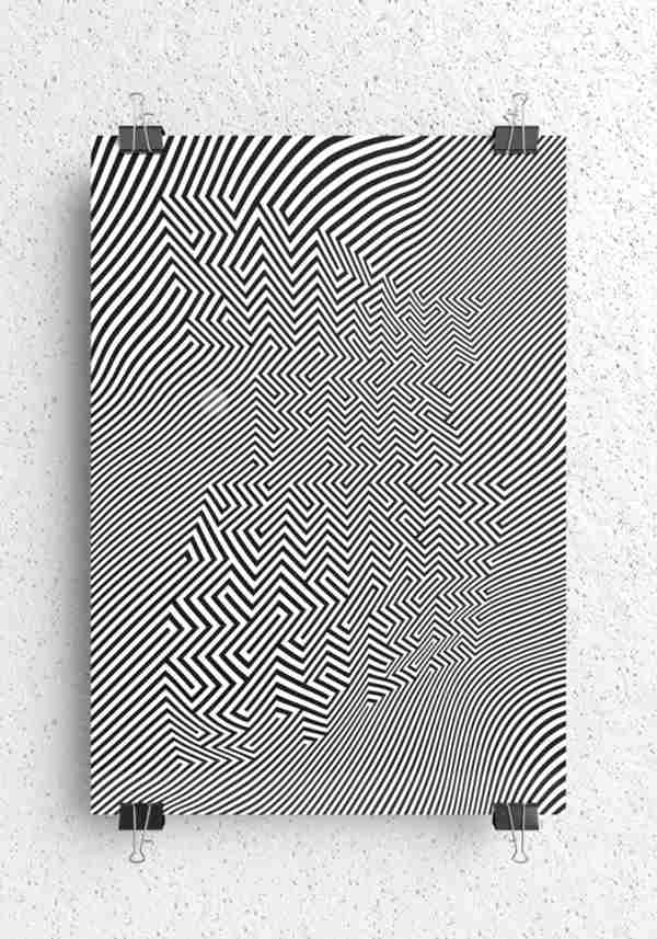 optical art en posters