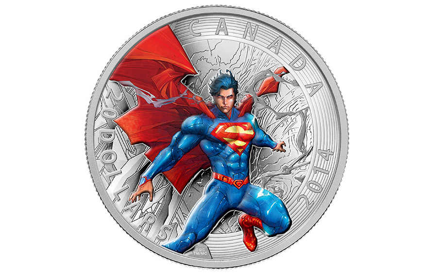 moneda superman