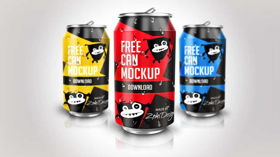 mock-up latas de refresco