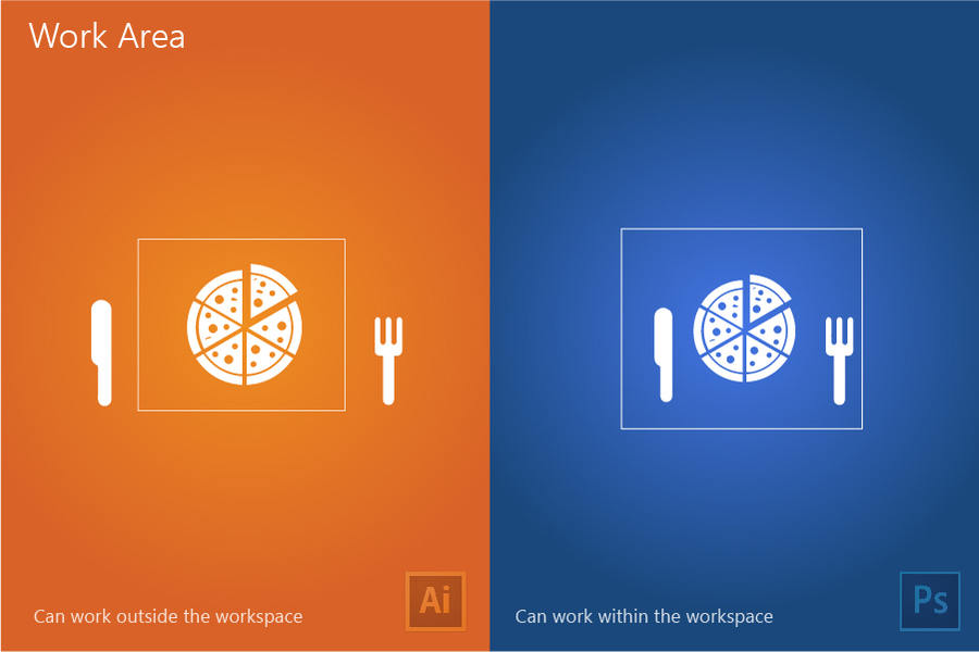 diferencias entre illustrator y photoshop