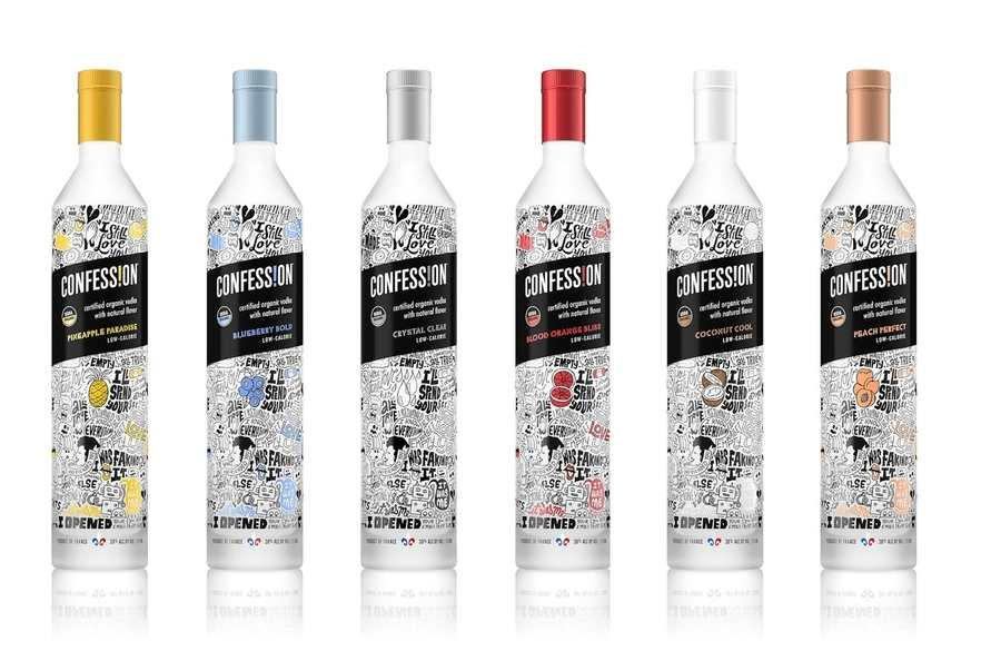 botella de vodka orgánico