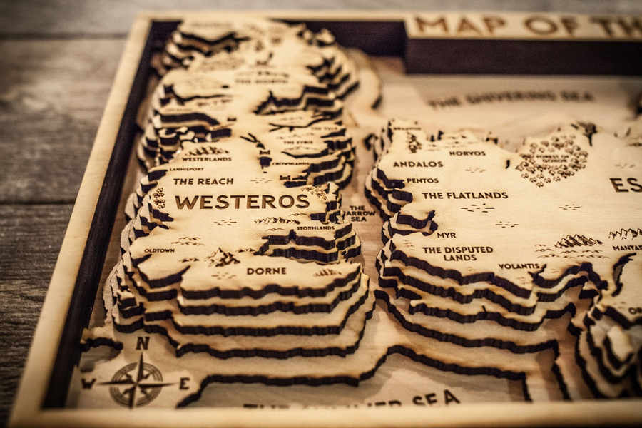 mapa de madera game of thrones