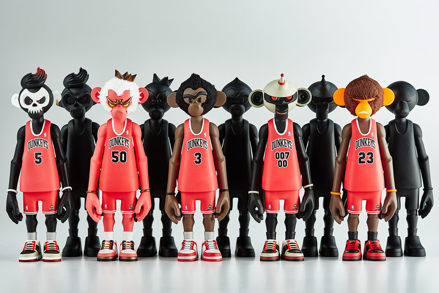 art toy monos basquetbolistas