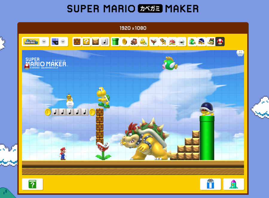 wallpaper versión Mario Maker
