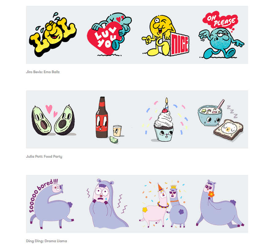 stickers de google allo