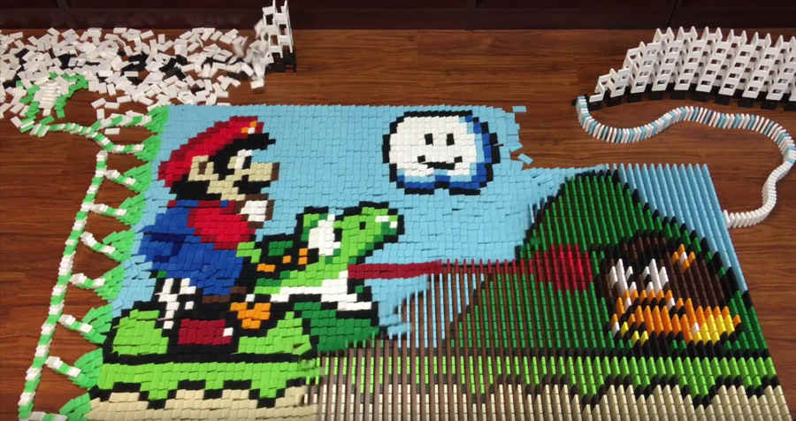 Super Mario World en dominó