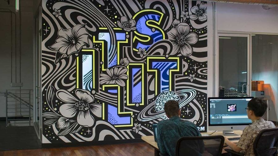 Mural con video mapping