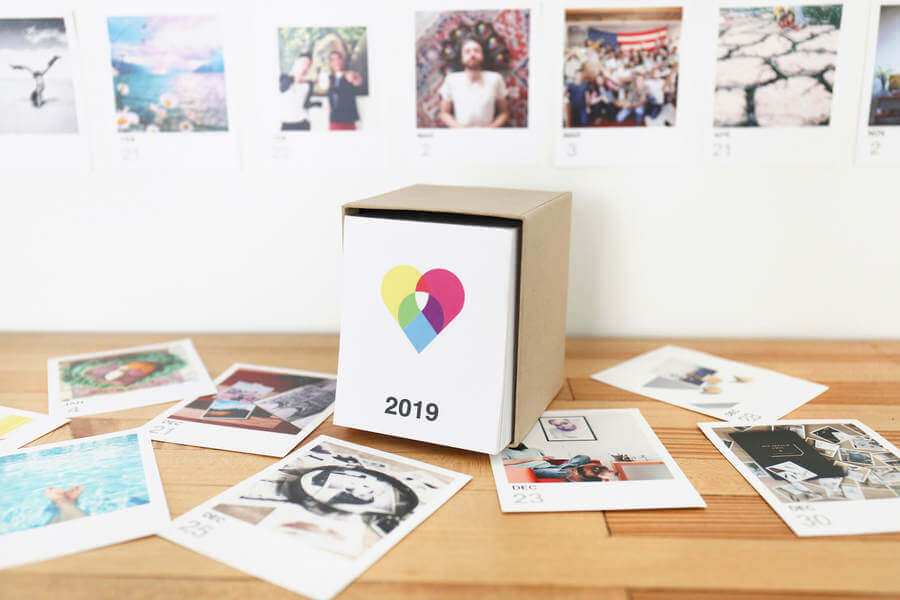 Calendario con fotos de instagram