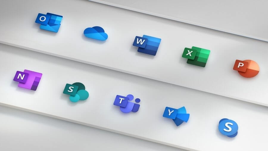 Iconos de Microsoft Office 365